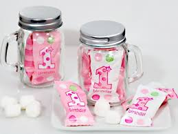 Mason Jar Party Favors First Birthday Pink Mason Jar Favors 1st Birthday Edible Party