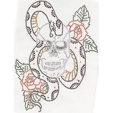 s2970 skull w snake roses isaacs designs