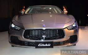 car maserati price maserati ghibli launched in malaysia from rm538 800 image 247828