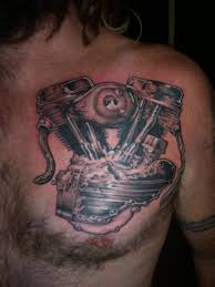 turbo and piston tattoo harley piston tattoos pictures to pin on pinterest tattooskid