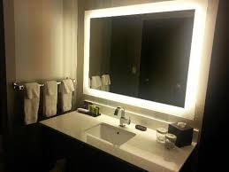 backlit mirror for bathrooms