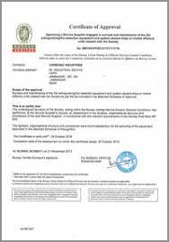 bureau veritas industrial services approvals carbonic industries