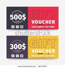 gift voucher samples gift voucher template market special offer stock vector 381725977