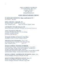 Pre Med Resume Sample by Mary Katherine Havermale Resume 2015 Parish