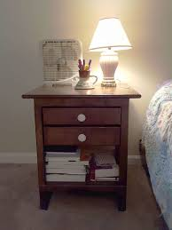 nightstand with hidden power compartment 12 steps with pictures