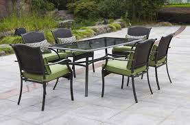 6 Seat Patio Table And Chairs Amazon Com Providence 7 Piece Patio Dining Set Green Seats 6