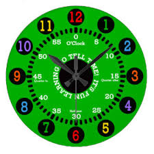 time learning clock learning wall clocks zazzle