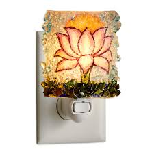 recycled glass lotus flower nightlight vivaterra