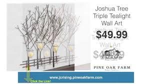 Votive Wall Sconce Joshua Tree Triple Tealight Wall Art Metal Wall Art Votive