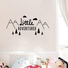 stickers chambre de bebe petit aventurier accueil sticker autocollant style nordique