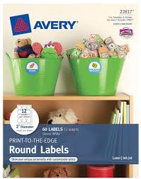 Avery Template 30 Labels Per Sheet Avery R Print To The Edge Labels 22817 Glossy White 2