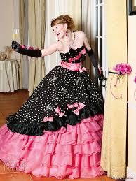 Pink And Black Bridesmaid Dresses Black And Pink Wedding Dresses Prom Dresses