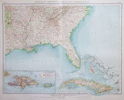 Map Of Southeast Usa by Map Of The Southeast Usa Haiti And Cuba 1903