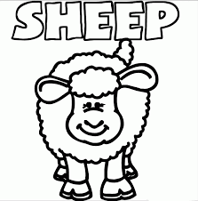 sheep pictures kids coloring