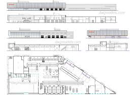 car showroom and service station autocad drawings free download