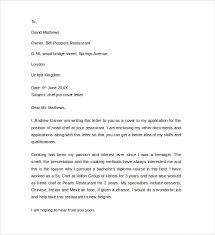 trend chef cover letter examples 32 for images of cover letters