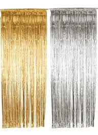 Silver Foil Curtains Metallic Silver Foil Fringe Curtains Best Curtain 2017