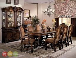 Michael Amini Dining Room Furniture by Dining Room Set With China Cabinet Aico Michael Amini 8pc Cortina