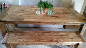 farmhouse table style rustic island with pipe legs industrial