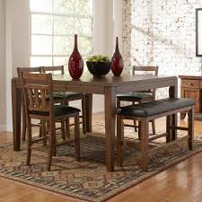 Dining Room Chairs And Benches Bravo 6 Piece Dining Room Set Counter Height Table Corner Seating
