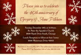 40th anniversary invitations snowflake winter anniversary invitation wedding party