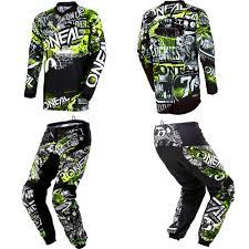 kids motocross gear canada oneal element attack motocross dirtbike gear jersey pants kids