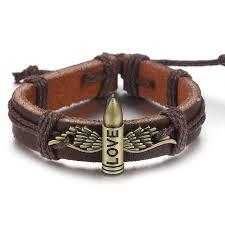 leather bracelet wristband images New punk vintage rope handmade bead woven owl leather bracelets jpg