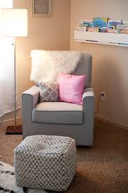 Pink Nursery Rocking Chair by Delta Children Eva Upholstered Glider In Heather Grey Beautifully