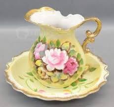 pitcher of roses vintage lefton heritage green pink roses pitcher and bowl set bowl