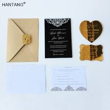 Black Invitation Card Online Get Cheap Acrylic Wedding Invitation Aliexpress Com