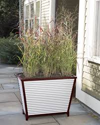 Self Watering Wall Planters Tall Galvanized Self Watering Trough Planter Gardeners Com