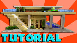 minecraft how to build a big modern house tutorial easy stylish