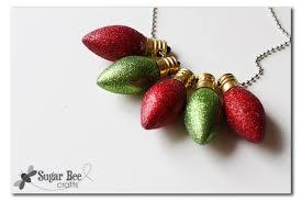 glitter light bulb necklace sugar bee crafts