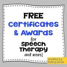 speech therapy graduation certificate speech resources