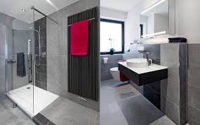 moderne badezimmer fliesen grau weisse hochglanzfliesen bad hip auf moderne deko ideen auch