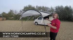 Motorhome Awning Reviews Vango Sun Canopy For Caravan U0026 Motorhome Review Youtube