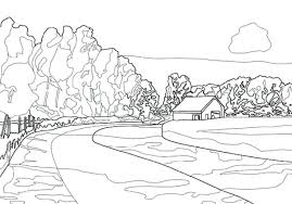 coloring pages for landscapes coloring pages of mountains mountain coloring pages landscape