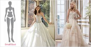 wedding dresses for small bust beyond shapes best wedding dresses for your figure