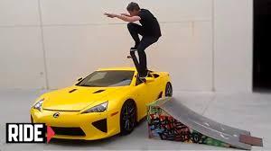 lexus over the years tony hawk jumps over 400k lexus lfa on a skateboard youtube