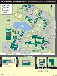 Chicago On A Map by Chicago Campus Map Saint Xavier University