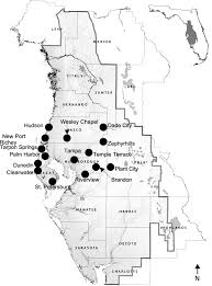 Map Of Florida With Cities Environmental And Economic Risks From Sinkholes In West Central