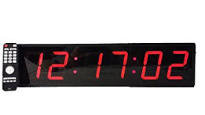 large digital wall clock 4 led count up