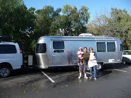 family of 5 and a cat traveling the country in an airstream