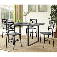 Wood Dining Room by Walker Edison Furniture Company Urban Blend 60 In Charcoal Wood