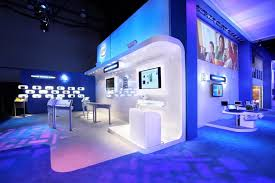 wonderful blue white led lights decors set on the partition as