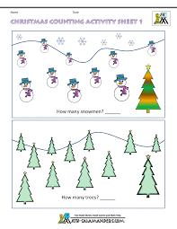 kindergarten christmas math worksheets worksheets