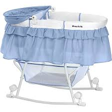 dream on me lacy portable 2 in 1 bassinet and cradle blue white