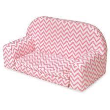 badger basket upholstered doll sofa with foldout bed pink