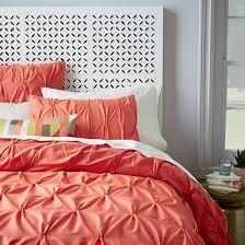 West Elm Pintuck Duvet Cover 113 Best Duvets Bedding Images On Pinterest Coral Custom