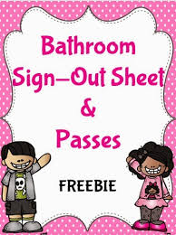 Bathroom Pass Template An Apple For The Teacher Bathroom Passes And Sign Out Sheets Freebie